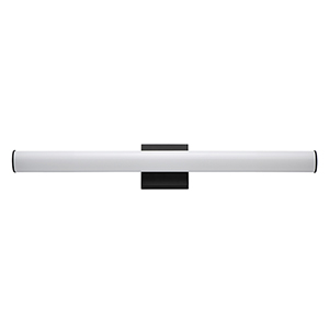 Rail Black Integrated LED ADA 30-Inch Wall Sconce