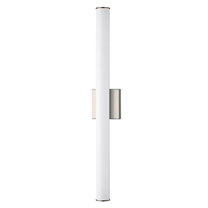 Rail Satin Nickel Integrated LED ADA 30-Inch Wall Sconce