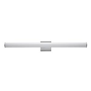 Rail Polished Chrome Integrated LED ADA 36-Inch Wall Sconce
