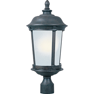 Dover LED E26 Bronze 12-Inch One-Light Outdoor Post Mount