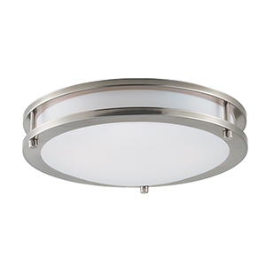 Linear LED Satin Nickel 12-Inch One-Light Flush Mount