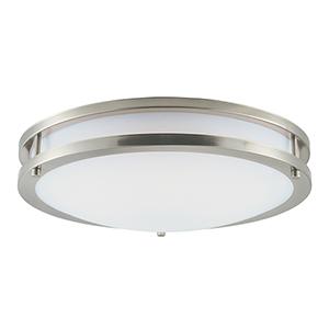 Linear LED Satin Nickel 16-Inch LED Flush Mount