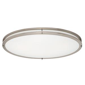 Linear LED Satin Nickel 18-Inch LED Flush Mount