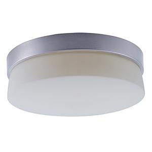 Flux Satin Silver 11-Inch LED Flush Mount