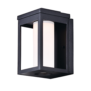 Salon LED Black Six-Inch One-Light Outdoor Wall Mount Dark Sky