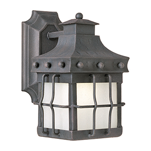 Nantucket LED E26 Country Forge Six-Inch One-Light Outdoor Wall Mount