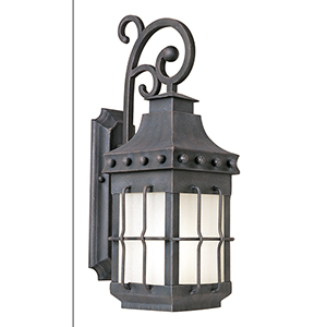 Nantucket LED E26 Country Forge Eight-Inch One-Light Outdoor Wall Mount