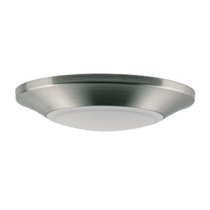 Diverse Satin Nickel Six-Inch 3000K LED Flush Mount