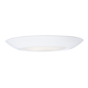 Diverse White 3000K 7-Inch Led One-Light Flush Mount with Polycarbonate Shade