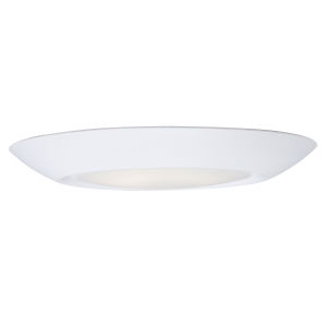 Diverse White 4000K 7-Inch Led One-Light Flush Mount with Polycarbonate Shade