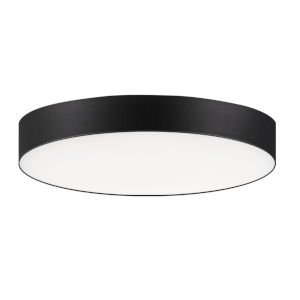 Trim Black One-Light ADA LED Flush Mount with Polycarbonate Shade