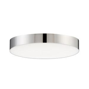 Trim Polished Chrome One-Light ADA LED Flush Mount with Polycarbonate Shade