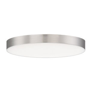 Trim Satin Nickel One-Light ADA LED Flush Mount with 3000K