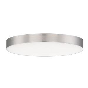 Trim Satin Nickel One-Light ADA LED Flush Mount with 3000K