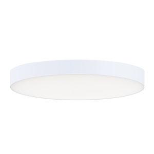 Trim White One-Light ADA LED Flush Mount with 3000K