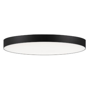 Trim Black One-Light ADA LED Flush Mount with Polycarbonate Shade 1280 Lumens