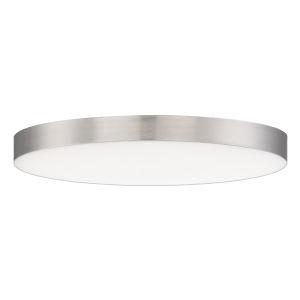 Trim Satin Nickel One-Light ADA LED Flush Mount with Polycarbonate Shade 3000 Kelvin 1280 Lumens