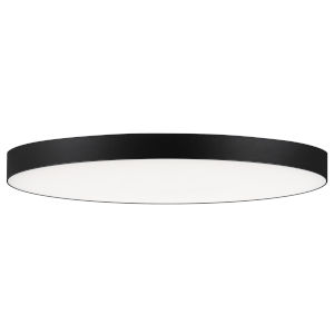 Trim Black One-Light ADA LED Flush Mount with Polycarbonate Shade 3000 Kelvin 1450 Lumens