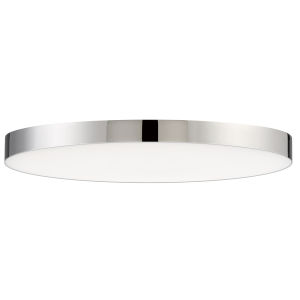 Trim Polished Chrome One-Light ADA LED Flush Mount with 3000 Kelvin 1450 Lumens