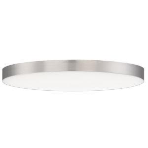 Trim Satin Nickel One-Light ADA LED Flush Mount with 3000 Kelvin 1450 Lumens