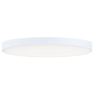 Trim White One-Light ADA LED Flush Mount with Polycarbonate Shade 3000 Kelvin 1450 Lumens