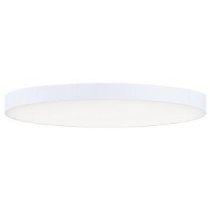 Trim White One-Light ADA LED Flush Mount with Polycarbonate Shade 3000 Kelvin 1450 Lumens