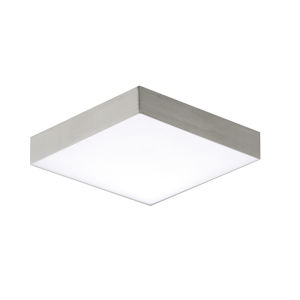 Trim Satin Nickel One-Light ADA LED Flush Mount with Polycarbonate Shade