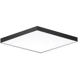 Trim Black One-Light ADA LED Flush Mount with Polycarbonate Shade 3000 Kelvin 1280 Lumens