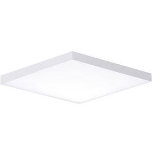 Trim White One-Light ADA LED Flush Mount with Polycarbonate Shade 3000 Kelvin 1280 Lumens