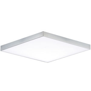 Trim Polished Chrome One-Light ADA LED Flush Mount with Polycarbonate Shade 3000 Kelvin 1450 Lumens