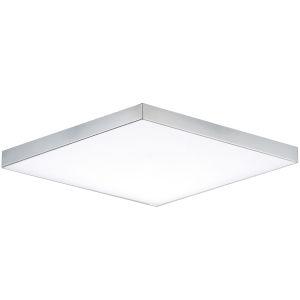 Trim Polished Chrome One-Light ADA LED Flush Mount with Polycarbonate Shade 3000 Kelvin 1450 Lumens