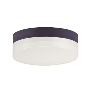 Illuminaire Ii Bronze One-Light LED Flush Mount with Acrylic Shade