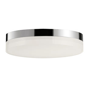 Illuminaire Ii Polished Chrome One-Light LED Flush Mount with Acrylic Shade 3000 Kelvin