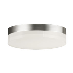 Illuminaire Ii Satin Nickel One-Light LED Flush Mount with Acrylic Shade 1080 Lumens