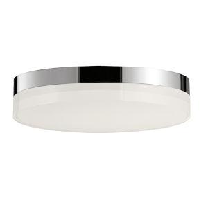Illuminaire Ii Polished Chrome One-Light LED Flush Mount with 3000 Kelvin 1270 Lumens