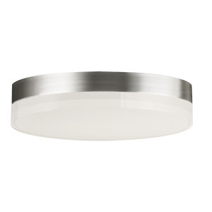 Illuminaire Ii Satin Nickel One-Light LED Flush Mount with Acrylic Shade 3000 Kelvin