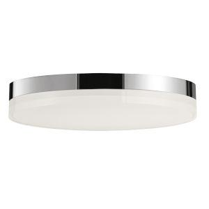 Illuminaire Ii Polished Chrome One-Light LED Flush Mount with 3000 Kelvin