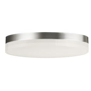 Illuminaire Ii Satin Nickel One-Light LED Flush Mount with Acrylic Shade 1400 Lumens