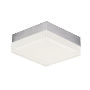 Illuminaire Ii Satin Nickel One-Light LED Flush Mount with Acrylic Shade 3000 Kelvin 920 Lumens