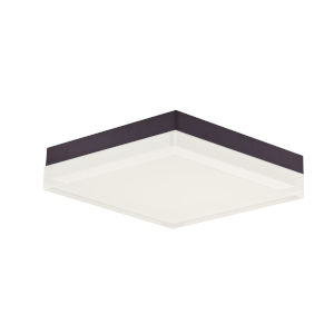 Illuminaire Ii Bronze One-Light LED Flush Mount with Acrylic Shade 3000 Kelvin 1270 Lumens