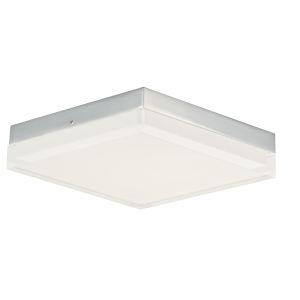 Illuminaire Ii Polished Chrome One-Light LED Flush Mount with Acrylic Shade 3000 Kelvin 1270 Lumens