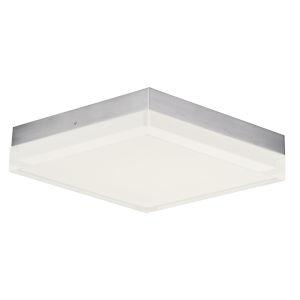 Illuminaire Ii Satin Nickel One-Light LED Flush Mount with Acrylic Shade 3000 Kelvin 1270 Lumens