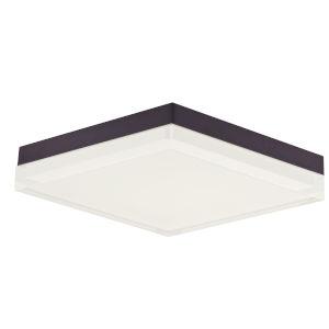 Illuminaire Ii Bronze One-Light LED Flush Mount with Acrylic Shade 3000 Kelvin 1400 Lumens