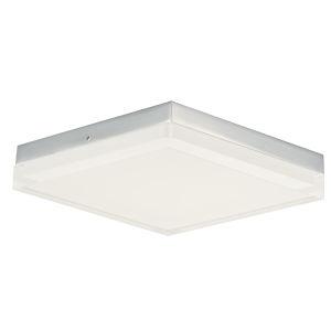 Illuminaire Ii Polished Chrome One-Light LED Flush Mount with Acrylic Shade 3000 Kelvin 1400 Lumens