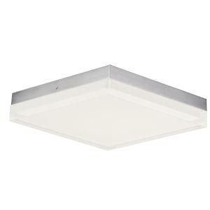 Illuminaire Ii Satin Nickel One-Light LED Flush Mount with Acrylic Shade 3000 Kelvin 1400 Lumens