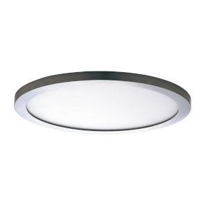 Chip Satin Nickel Led 7-Inch One-Light Flush Mount with Polycarbonate Shade