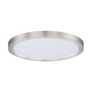 Chip Satin Nickel Round LED Flush Mount