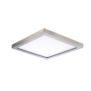 Chip Satin Nickel 6-Inch 3000K Led One-Light Flush Mount with Polycarbonate Shade