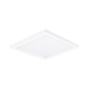 Chip White 6-Inch 3000K Led One-Light Flush Mount with Polycarbonate Shade