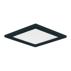 Wafer Black Five-Inch Square LED Flush Mount